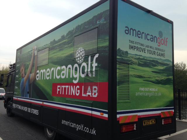 American Golf Truck Wrap