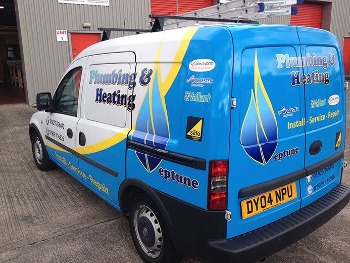 Plumbing & Heating Van Graphics