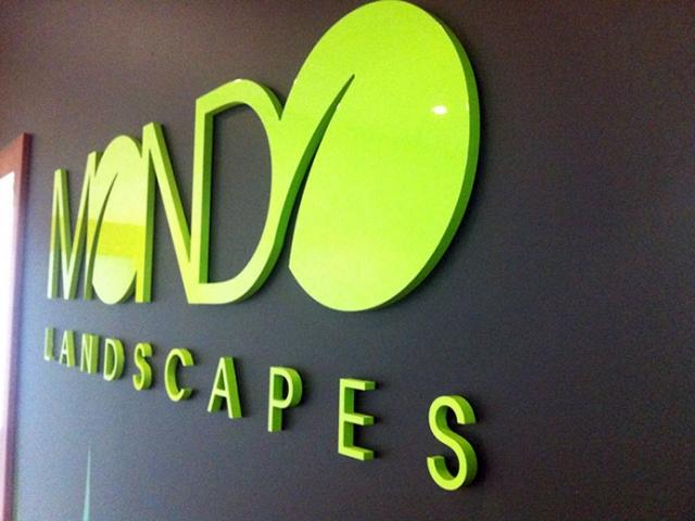 Mondo Landscapes Sign